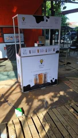 Booth usaha kemitraan minuman & makanan murah geratis design