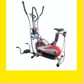sepeda statis orbitrek plat 5 in 1 alat olahraga fitnes