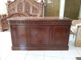 meja kerja istana jati minimaliz 0128