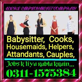 24 hours housemaids babysitters Attendent required urgently