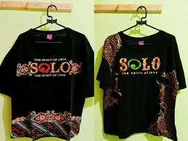 T-shirts Baju model Batik Khas Solo 2 Pasang size XL Bahan katun Bagus