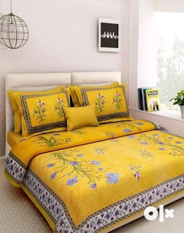 Stylish cotton bedsheets 0