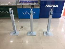 Foot pump sanitizer