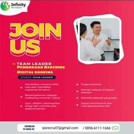 Loker Team Leader pembukaan Rekening digital banking