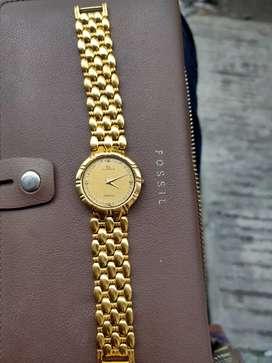 Jual jam tangan istimewah warna gold istmewah