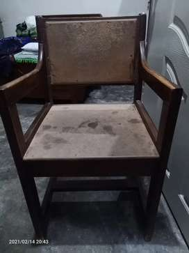 WOOD chair  old style Very Heavy