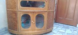 Tv trolly is in good condition for store things and tv