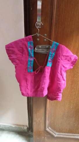 Untouchable saree of Rani colour