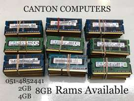 Laptop RAMS And Hard-disks available. Read Description.