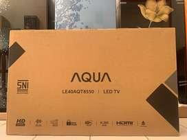 LED TV AQUA 40 inch -suport usb & hdmi Garansi resmi