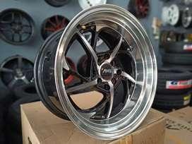 VELG RACING AMW EVO RING:16X7.5/8.5 PCD:8X100/114.3 ON YARIS,JAZZ,BRIO