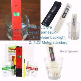 PH Meter Backlight & TDS Meter -Paket Hidroponik Air & Aquarium Tester