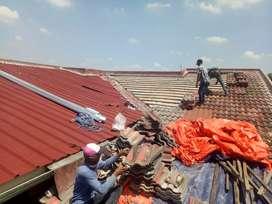 Jasa renopasi atap lama menjadi atap spandek pasiran