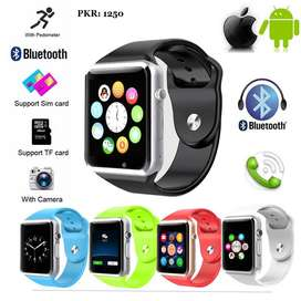 Online High Quality A1 WristWatch Bluetooth Smart Watch Sport Pedomete