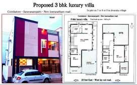 3bhk luxury villa.New keeranatham road . Saravanampatti.