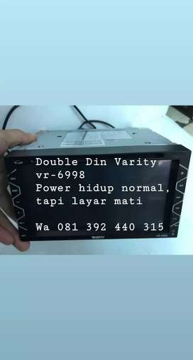 Double din varity vr-6998 layar blank,  power masih hidup