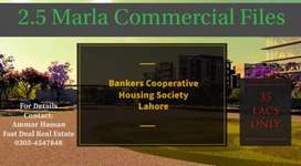 2.5 Marla Commercial File. BANKERS COOPERATIVE HOUSING SOCIETY.