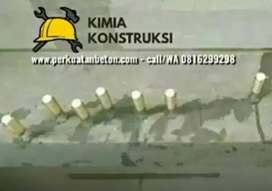 Ahli perkuatan beton fibre FRP wrapping jacketing kolom injeksi angkur
