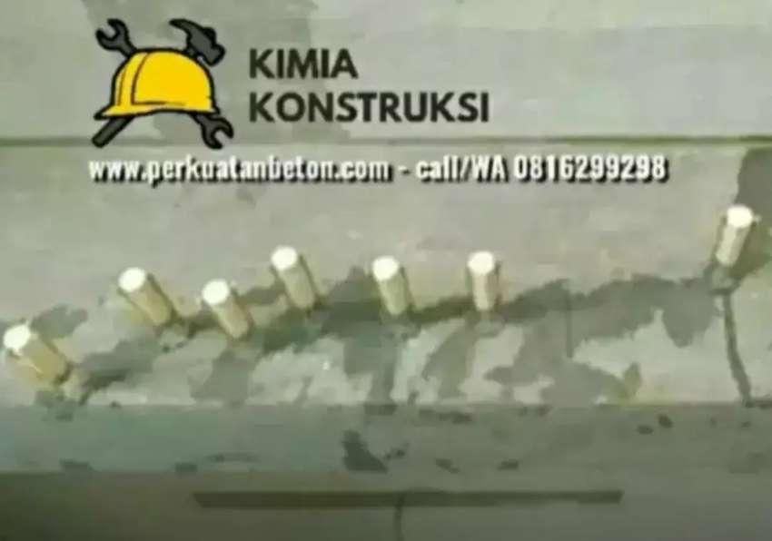 Ahli perkuatan beton fibre FRP wrapping jacketing kolom injeksi angkur 0