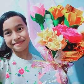 Buket bunga dan seserahan