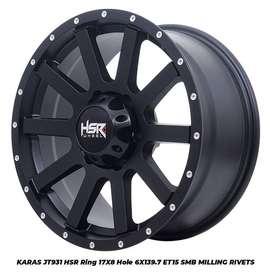 Ready velg offroad KARAS HSR R17X9 H6X139,7 SMB COCOK DI PAJERO SPORT