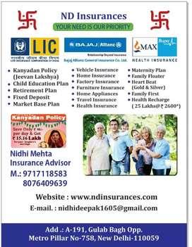 Insurance calling & online work