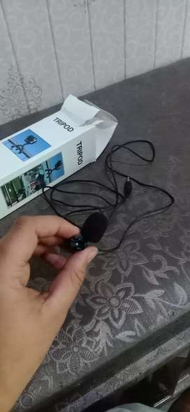 Tripod with voice recording mike  new condition
