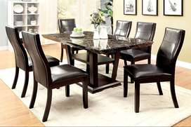 Leather seat Dining Table set for sale Brand New
