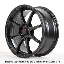menjual velg HIROSHIMA JD6923 HSR R16X7 H8X100-114,3 ET38 SMB