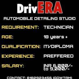 Technician for Automobile Detailing Studio