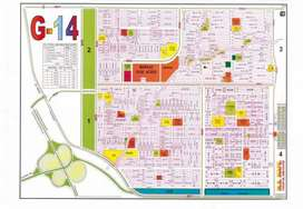 Top location street no: 3, 35*70 Plot for Sale in G-14/1
