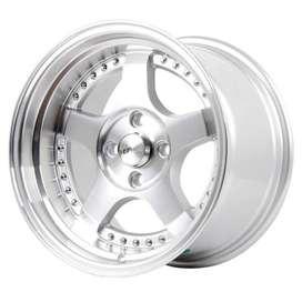 Velg Racing HSR SC02 5131 Ring 15X8-9 H8X100-1143 Semi Machince Face 3