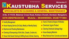 Kaustubha Services house keeping, A professional deep cleaning.