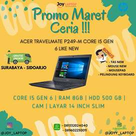 ACER TRAVELMATE P429 CORE I5 GEN 6 MULUS LIKE NEW RAM 8 HDD 500