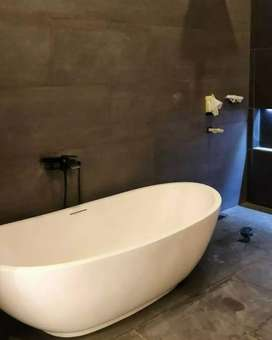 Bathtub Asli Terrazzo Batu Alam Murni Nuansa Bali