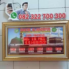 Jam sholat digital masjid runnigtext