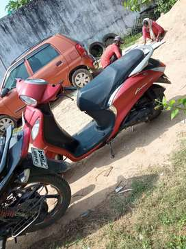 Yamaha fascino . red and black combnation