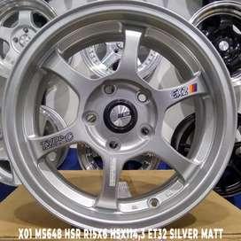 jual velg racing hsr ring 15x6,5 semi matt grey