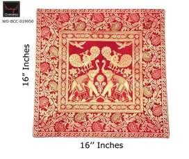 Wings Carft Banarasi Silk Brocade  Decorative Sofa CushionCovers 16x16
