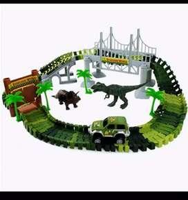 Race track dinosaur world bridge create a road flexibel