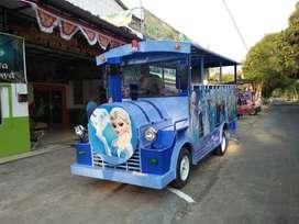 kereta mini odong odong mobil biru RY