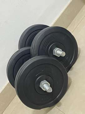 5Kg dummbell pair With metal Rod