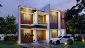 4&3bhk designed villas in peramangalam, gated comunity project