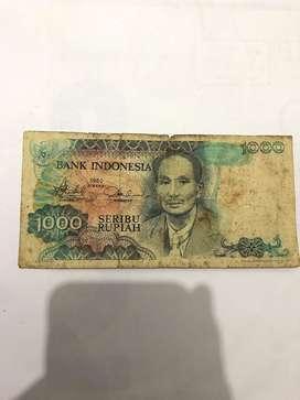 Jual uang 1000 tahun 1980