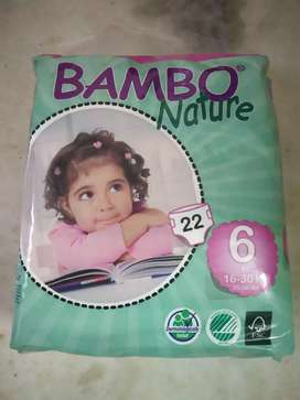 New Bambo Nature XL baby diapers.For children upto 30 kg.Mrp Rs 850