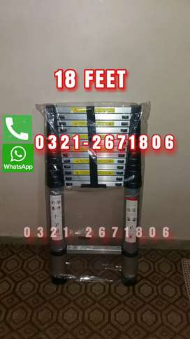 18 FEET  ALMUNIUM EXTENSION LADDER  EASY FOLD AND  CARRY
