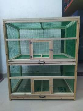 V-Cage Brand new wooden bird cage double