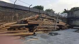 kaso, balok, bambu bekas proyek
