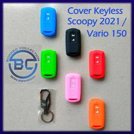 Cover Sarung Silikon Kunci Remot Keyless Honda Scoopy 2021 Terbaru