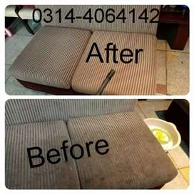 Mannan. Sofa washing or dry cleaning